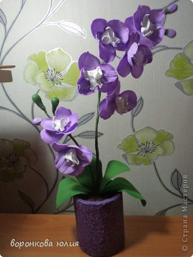 здравствуйте дорогие мастерицы.вот решила с вами поделиться тем , как я делаю цветок орхидеи. фото 32