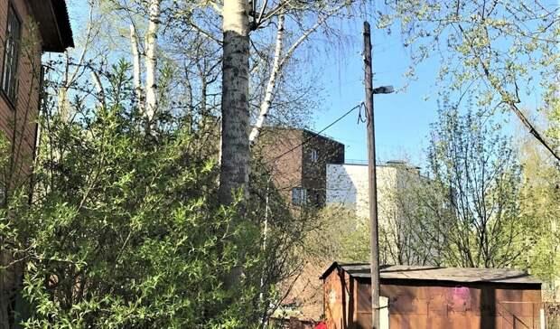 Фонарь в Петрозаводске отремонтируют после обращения к Путину