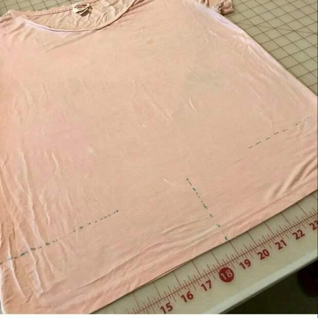 Драпировка по низу футболки (diy)