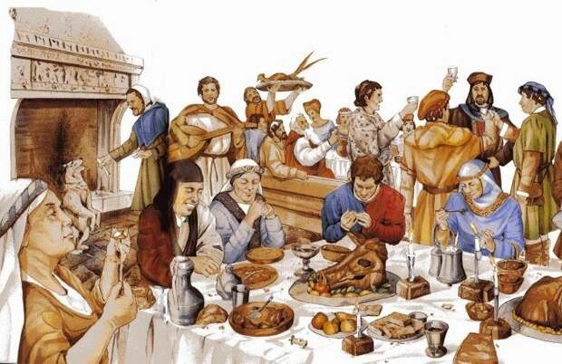 В средние века посуда для питья была из дерева и металла. /Фото: sciencepop.ru