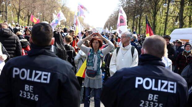 Более 150 человек задержали в Берлине на акции протеста