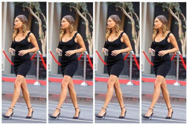 Образ дня: Хейли Бибер в маленьком черном платье AZ...