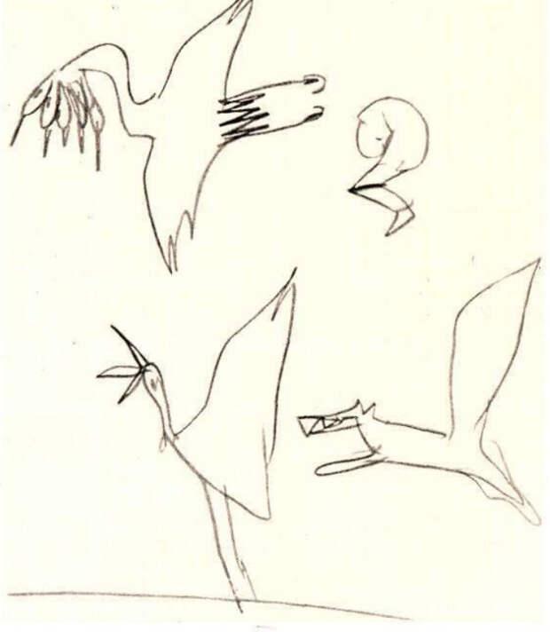 10 пугающих рисунков детей с шизофренией