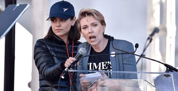 Скарлетт Йоханссон и другие звезды выступили на «Женском марше»