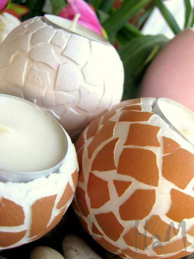 Подсвечники из пенопласта с мозаикой яичной скорлупой (6) (525x700, 306Kb)