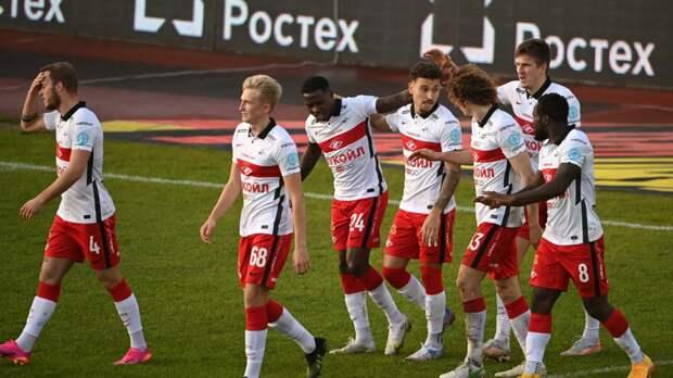«Спартак» пропустил два мяча от «Ахмата» на старте матча 30-го тура РПЛ