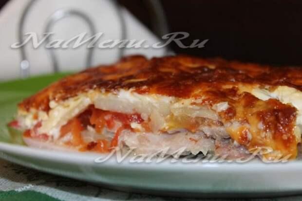 Мясо по-французски с картошкой в духовке, рецепт с фото