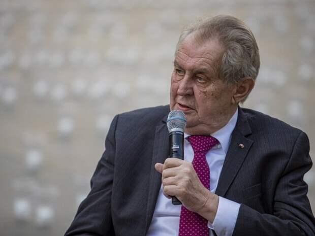 Земан счел включение Чехии в список недружественных стран ошибкой