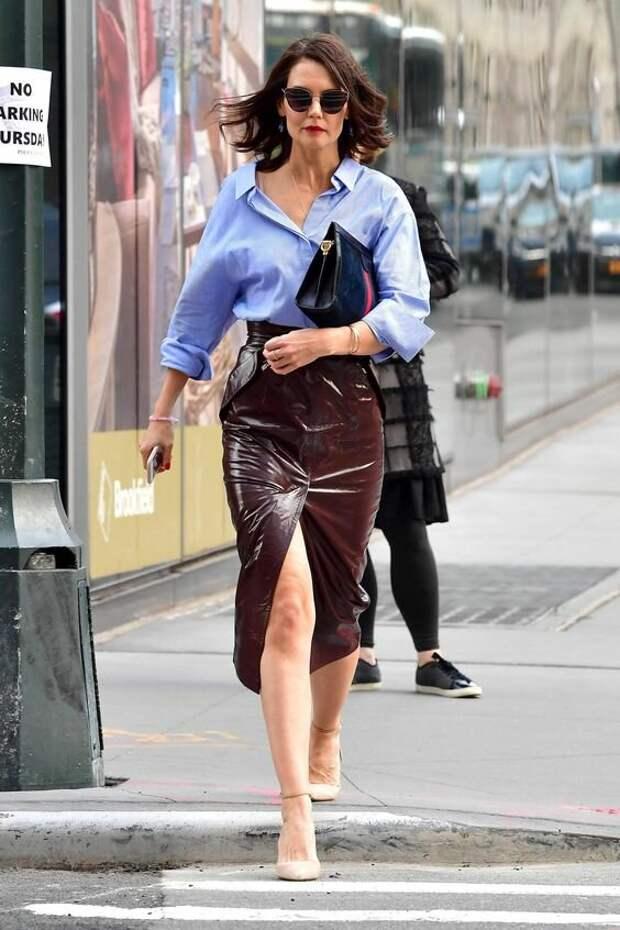 Икона стиля: как одевается Кэти Холмс и почему ее образы все повторяют