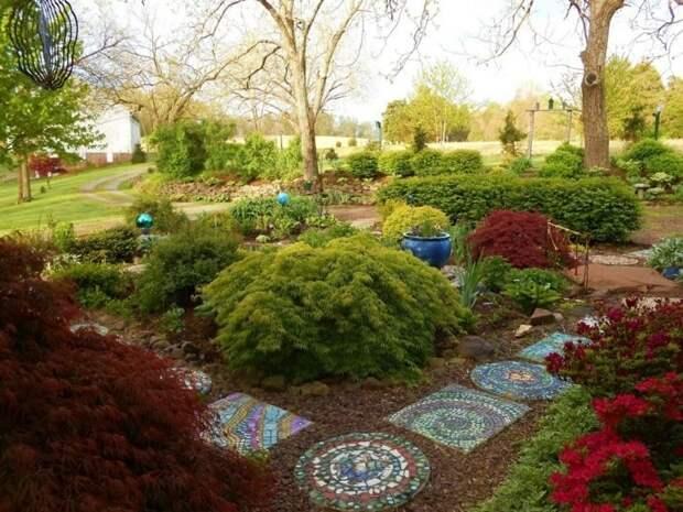 Простой и красивый декоративный элемент для сада: отлично дополнить ландшафтный дизайн и добавить ярких красок