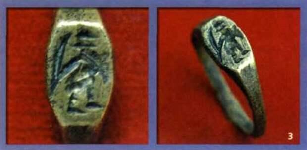 древнерусский перстень с изображением воина