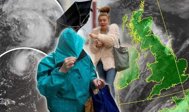 Столкновение двух атлантических штормов принесет ураганный ветер в Великобританию