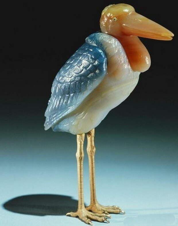 Камнерезные фигурки птиц фирмы Фаберже из королевской коллекции, фото № 11