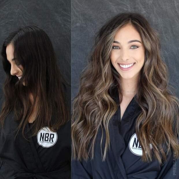 Чудесное преображение образа после наращивания волос