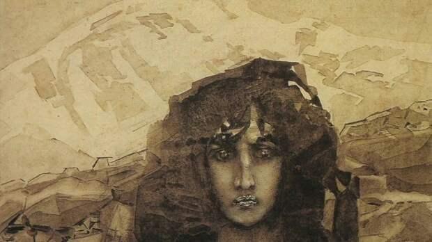 Михаил Врубель. Голова Демона, 1891 г.