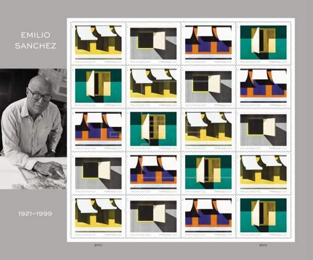 ARTE - El Servicio Postal celebra el arte de Emilio Sánchez en nuevas estampillas