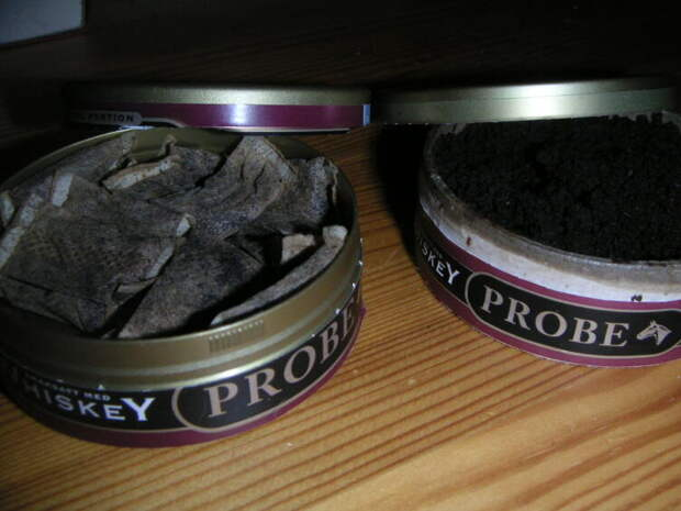 Порционный и россыпной жевательный табак (снюс)