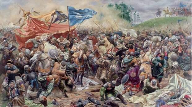 битва войск Тамерлана и Тохтамыша на Тереке