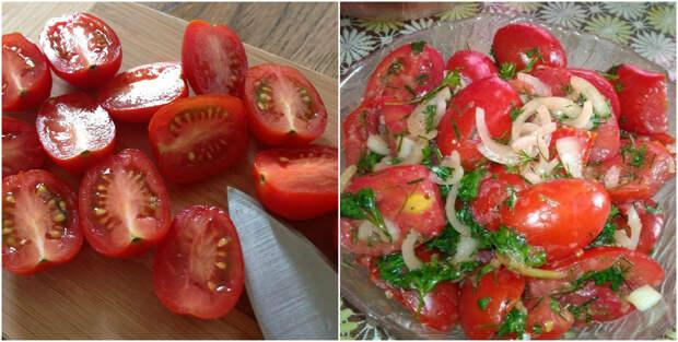 Рецепт вкусных и пикантных маринованных томатов