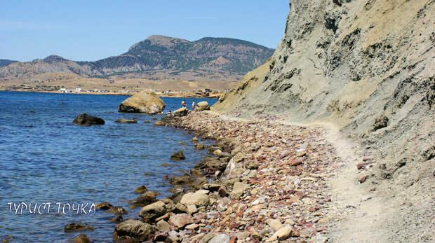 Мыс Меганом, Крым. Тропа вдоль моря