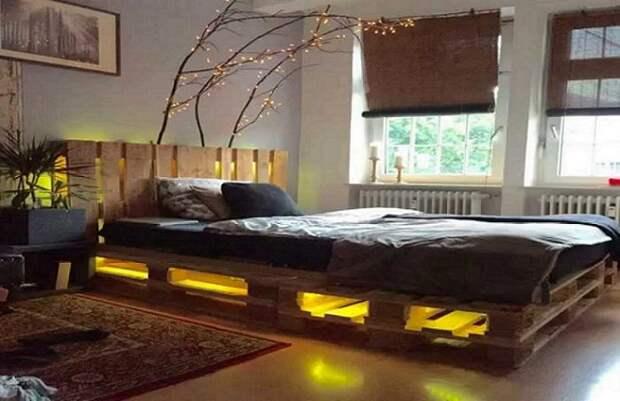Подсветка с помощью светодиодных ламп.