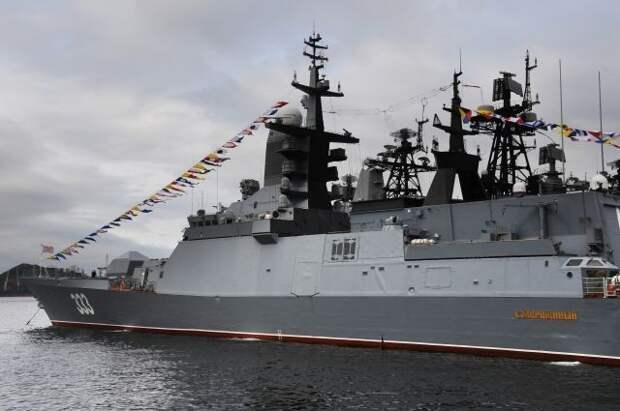 Корабли ТОФ провели в Филиппинском море артиллерийские стрельбы