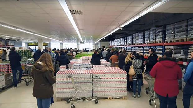 Российский магазин в Германии вызвал небывалый ажиотаж, сообщили СМИ