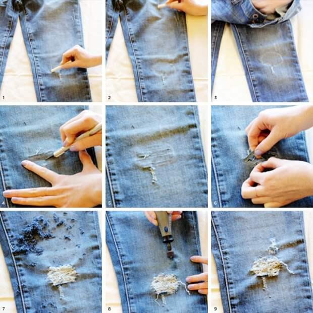 10 способов обновить старые джинсы
