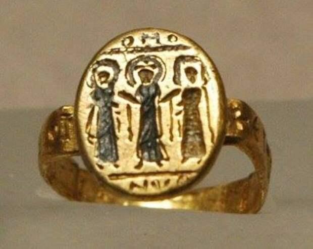 Византийские свадебные кольца 6-7 вв