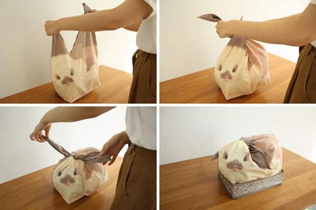 Японские сумки превратят беспорядочно лежащие дома вещи в милых кроликов