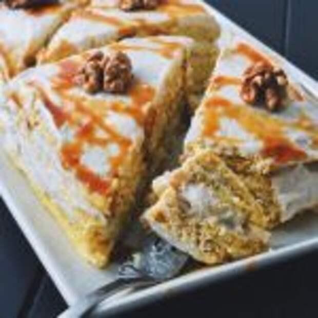 Вкусный овсяноблинный тортик