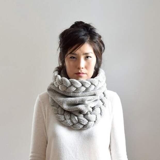 Вязанный шарф-воротник: оригинальная идеи, эффектное совершенство