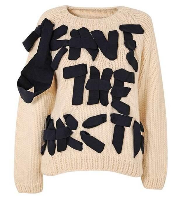 как украсить свитер
