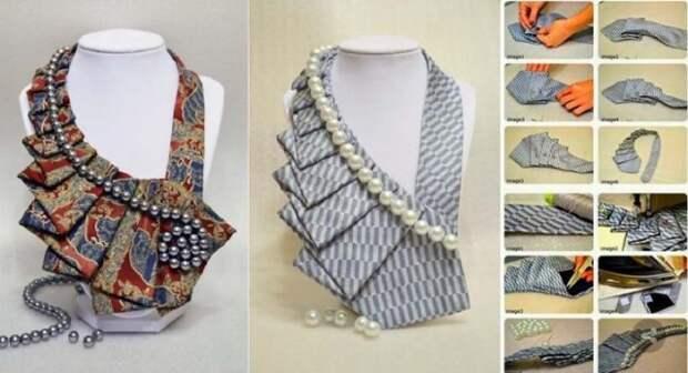 Когда в руки креативной рукодельницы попадают ненужные галстуки, получается вот такая красота!