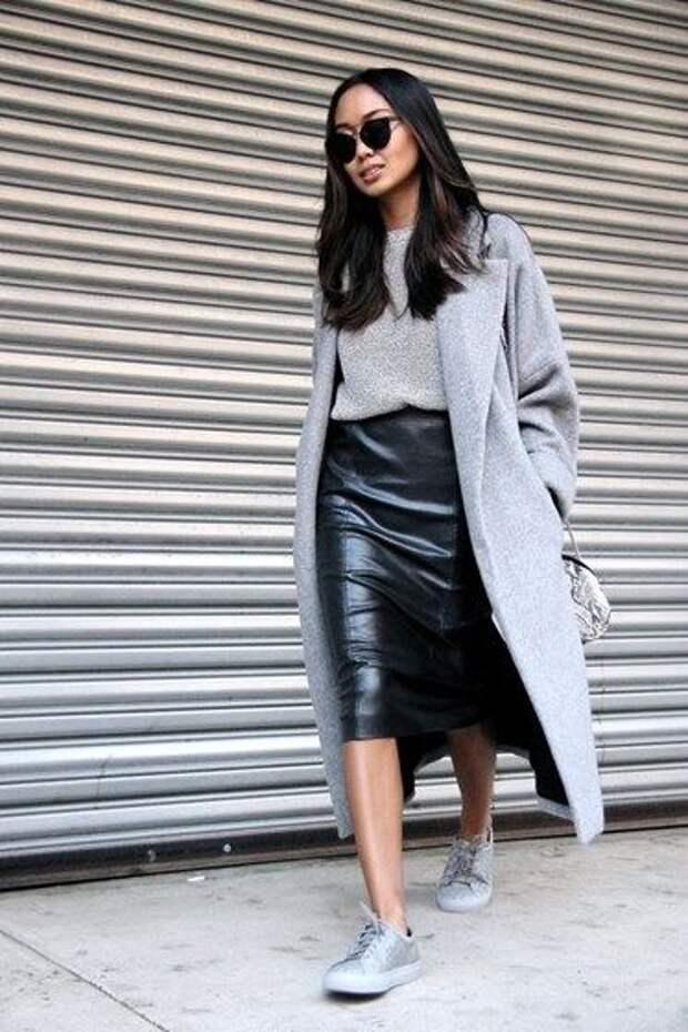 Какую кожаную юбку выбрать для стильных образов в 2021 году