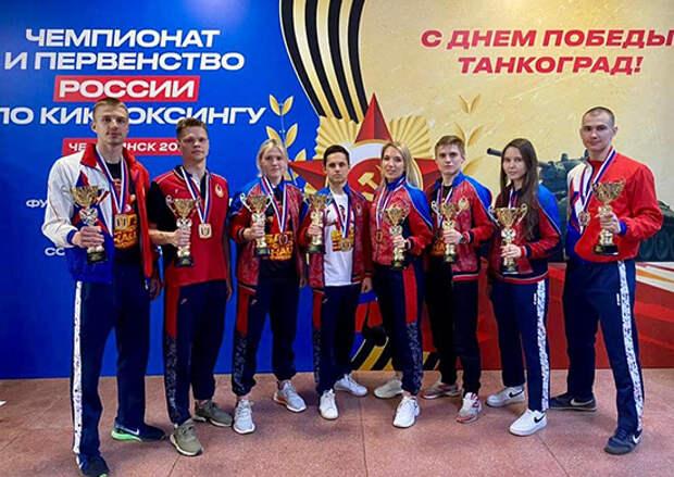 Армейские спортсмены завоевали 22 медали различного достоинства на чемпионате и Первенстве России по кикбоксингу