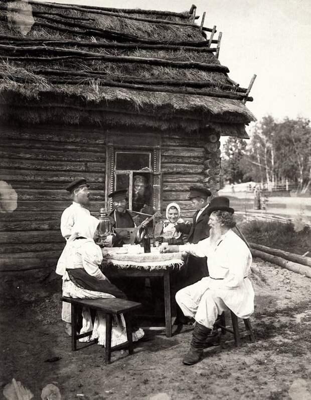 Русские крестьяне отдыхают Крестьяне, россия, старые фото