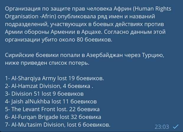 Потери азербайджанской армии в Карабахе