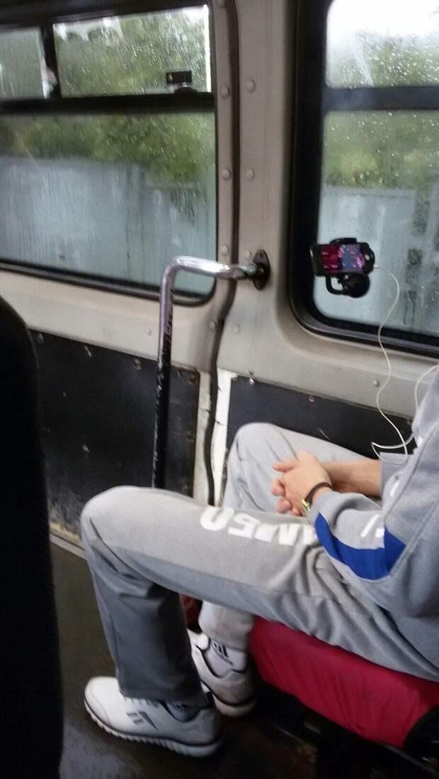 В транспорте lifehack, Лайфхак, дали ума вещам, доделки, лайфхаки, смекалка, хитрости