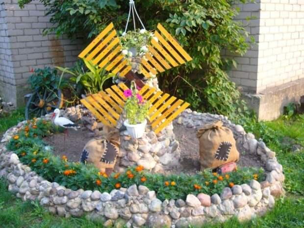 Необычная композиция, выполненная своими руками, украсит дачный участок. /Фото: 1k.com.ua