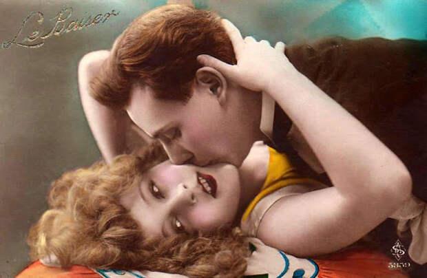 Французские открытки, в которых показано, как романтично целовались в 1920-е годы 51