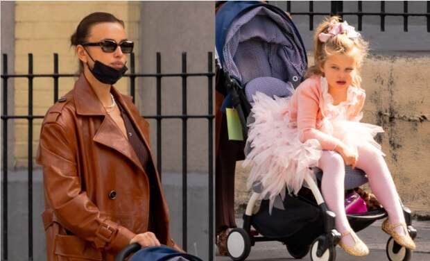 Модные дочки-матери: Ирина Шейк с дочерью Леей на прогулке в Нью-Йорке