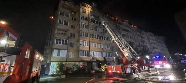 54 квартиры полностью выгорели во время пожара в многоэтажке Краснодара