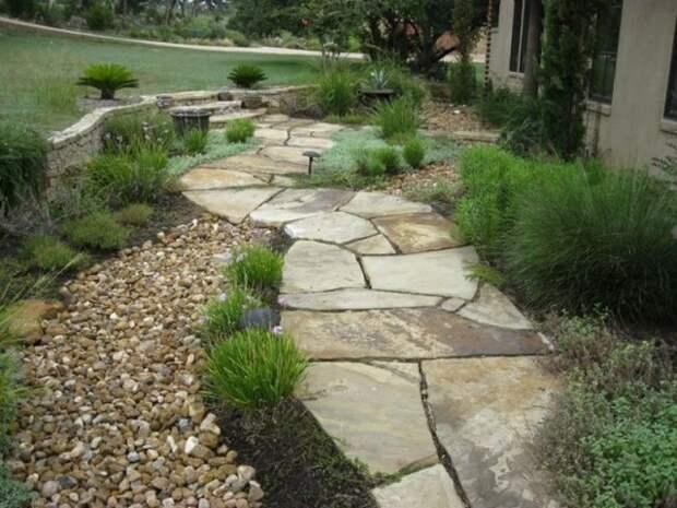 Садовая дорожка камни