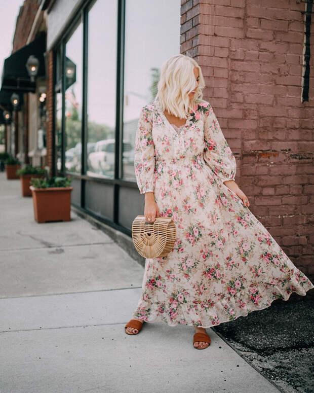 модный летние образы с цветочным принтом фото 11