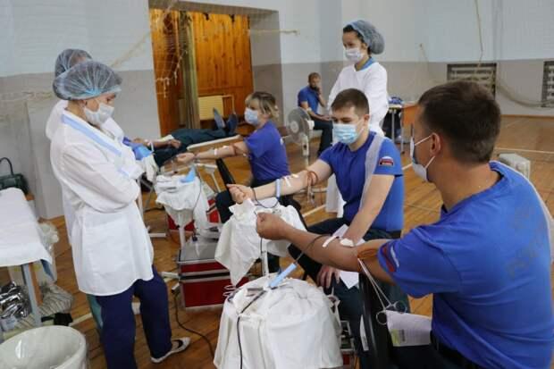 Сотрудники МЧС в Удмуртии сдали кровь в рамках акции «30 добрых дел»