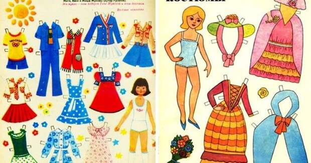 Бумажные куклы: доступная, увлекательная и творческая игра детейСССР