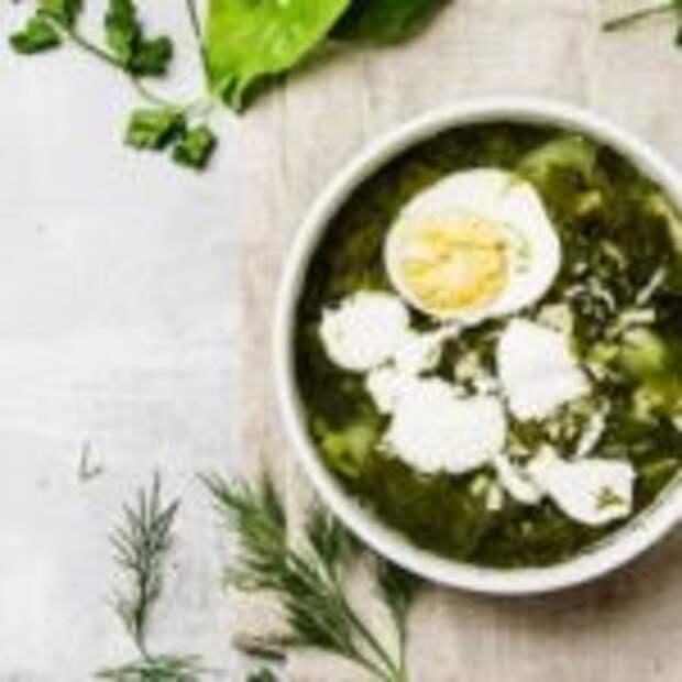 Зеленые щи с яйцом и щавелем – и вкусно, и полезно!