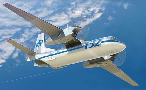 Рисунок самолета Ан-132