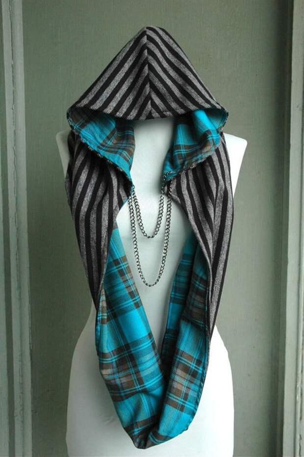 Круглый шарф с капюшоном
